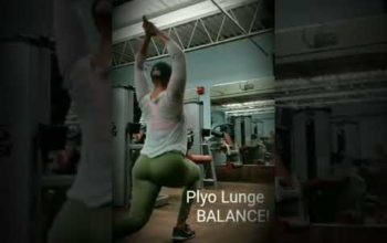 Plyo lunge- modified reverse lunge Week III